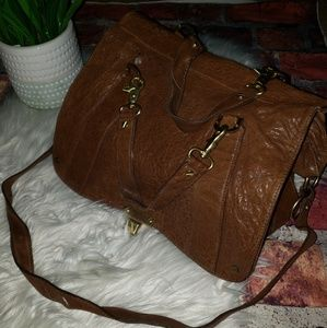 Tory Burch Vintage Large Leather Satchel/Crossbody